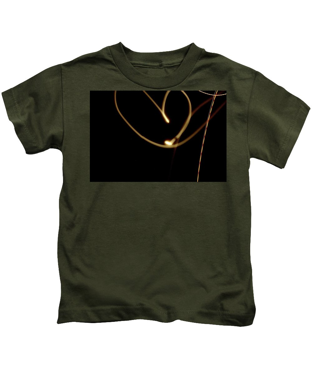 Light Painting Kids T-Shirt featuring the photograph Light Painting The Moon by Claire Kenney