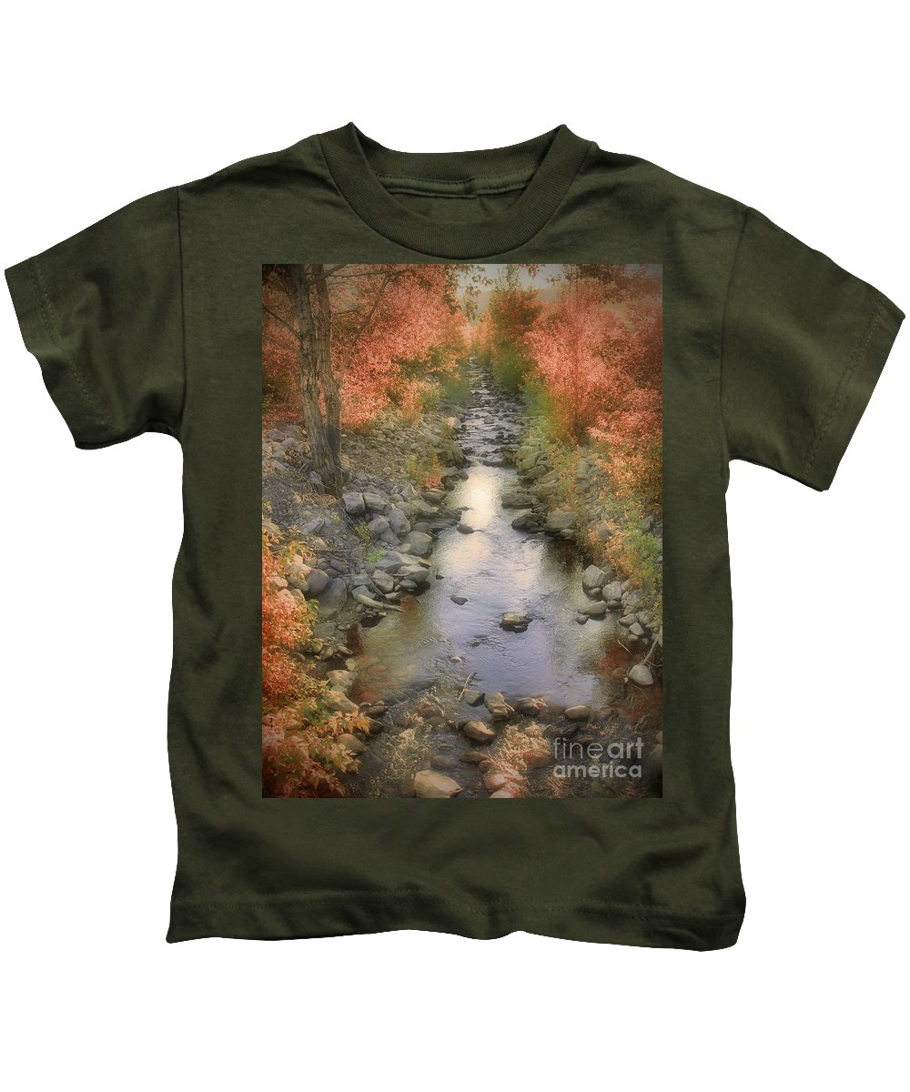 Creek Kids T-Shirt featuring the photograph Morning By The Creek by Tara Turner
