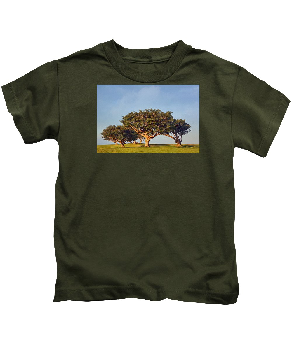 Trees Kids T-Shirt featuring the photograph Morning Glory Txb by Theo O'Connor