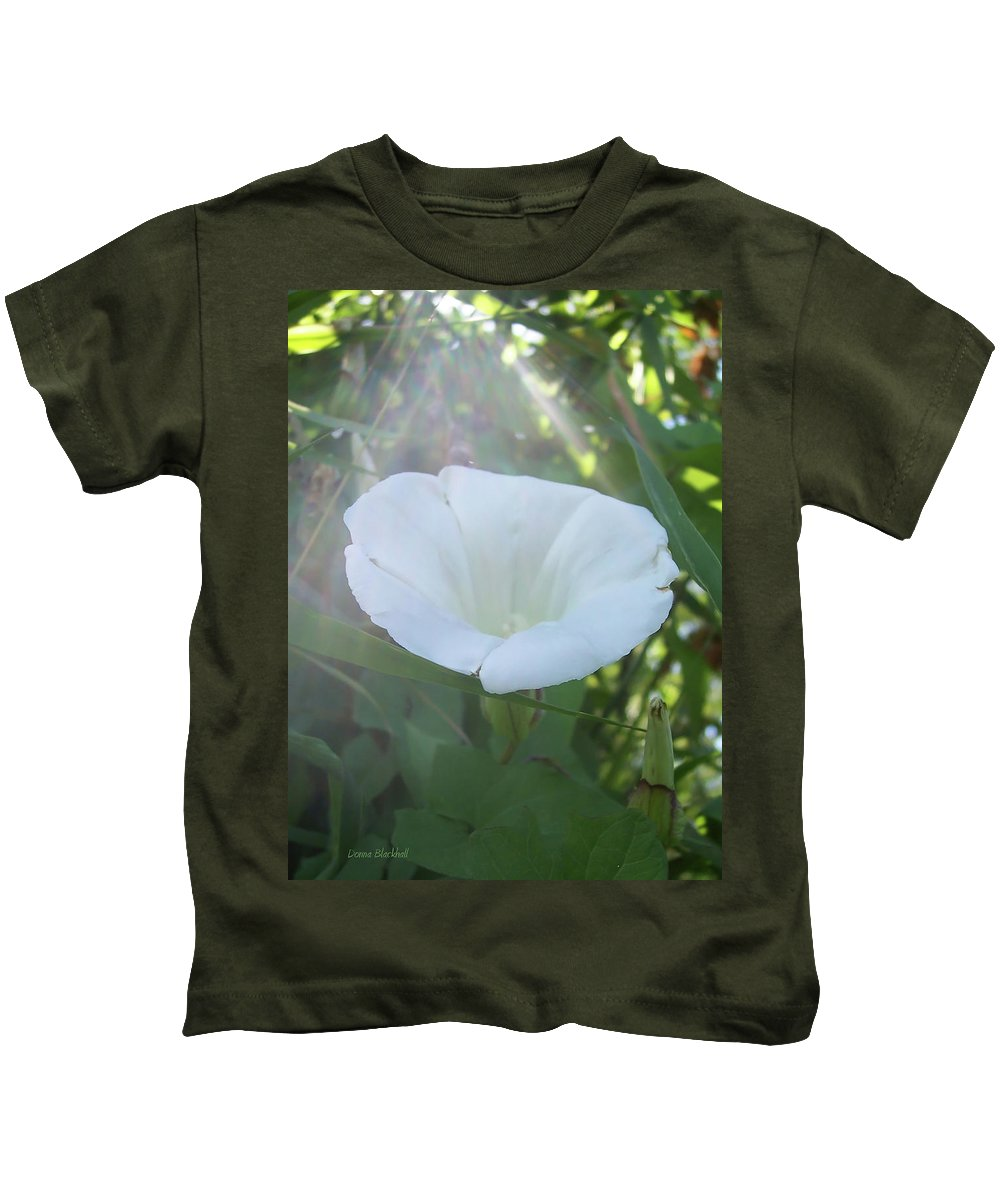 Morning Kids T-Shirt featuring the photograph Morning Light by Donna Blackhall