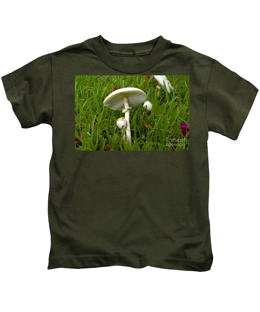 Mushrooms Kids T-Shirt featuring the photograph Morning Surprise by David Lee Thompson