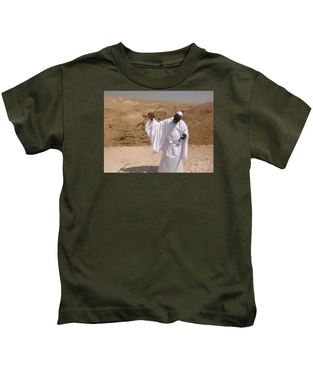 Eugenesimon Kids T-Shirt featuring the photograph Moses by Simon