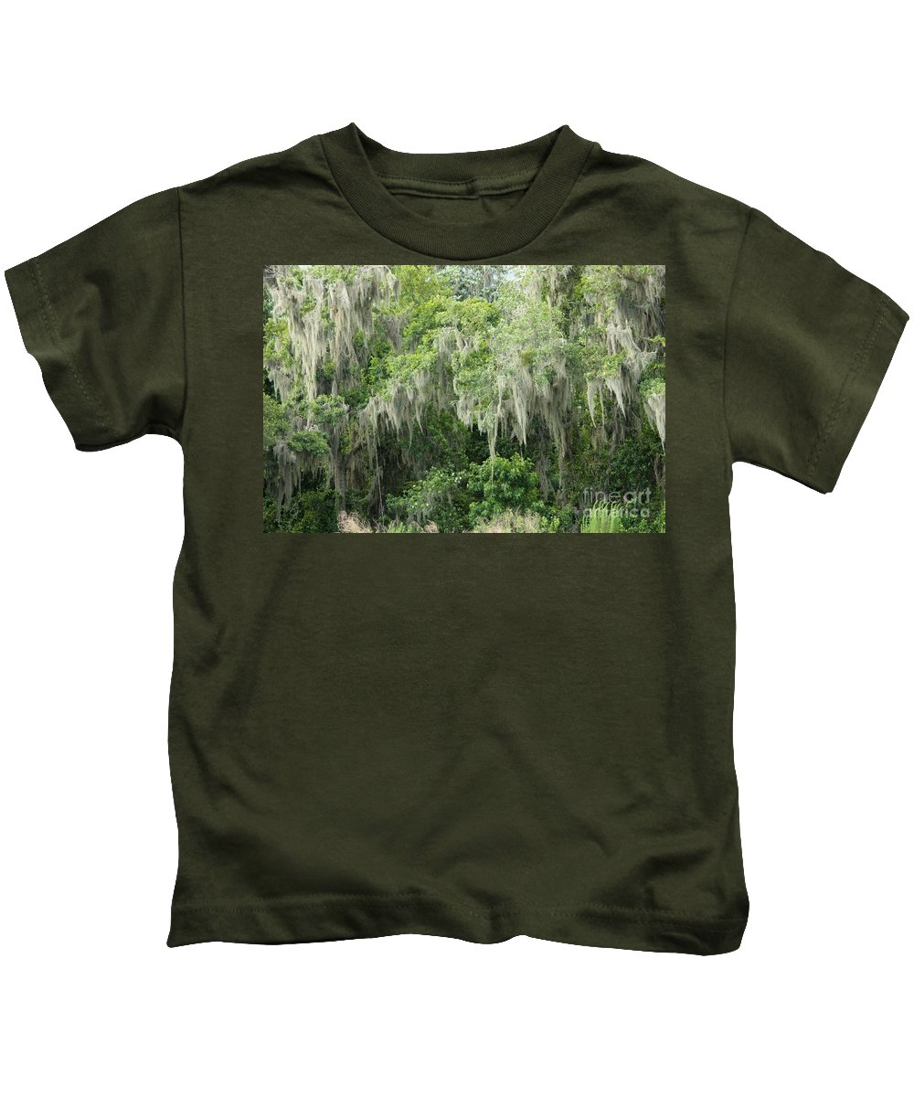 Moss Kids T-Shirt featuring the photograph Mossy Branches by Carol Groenen