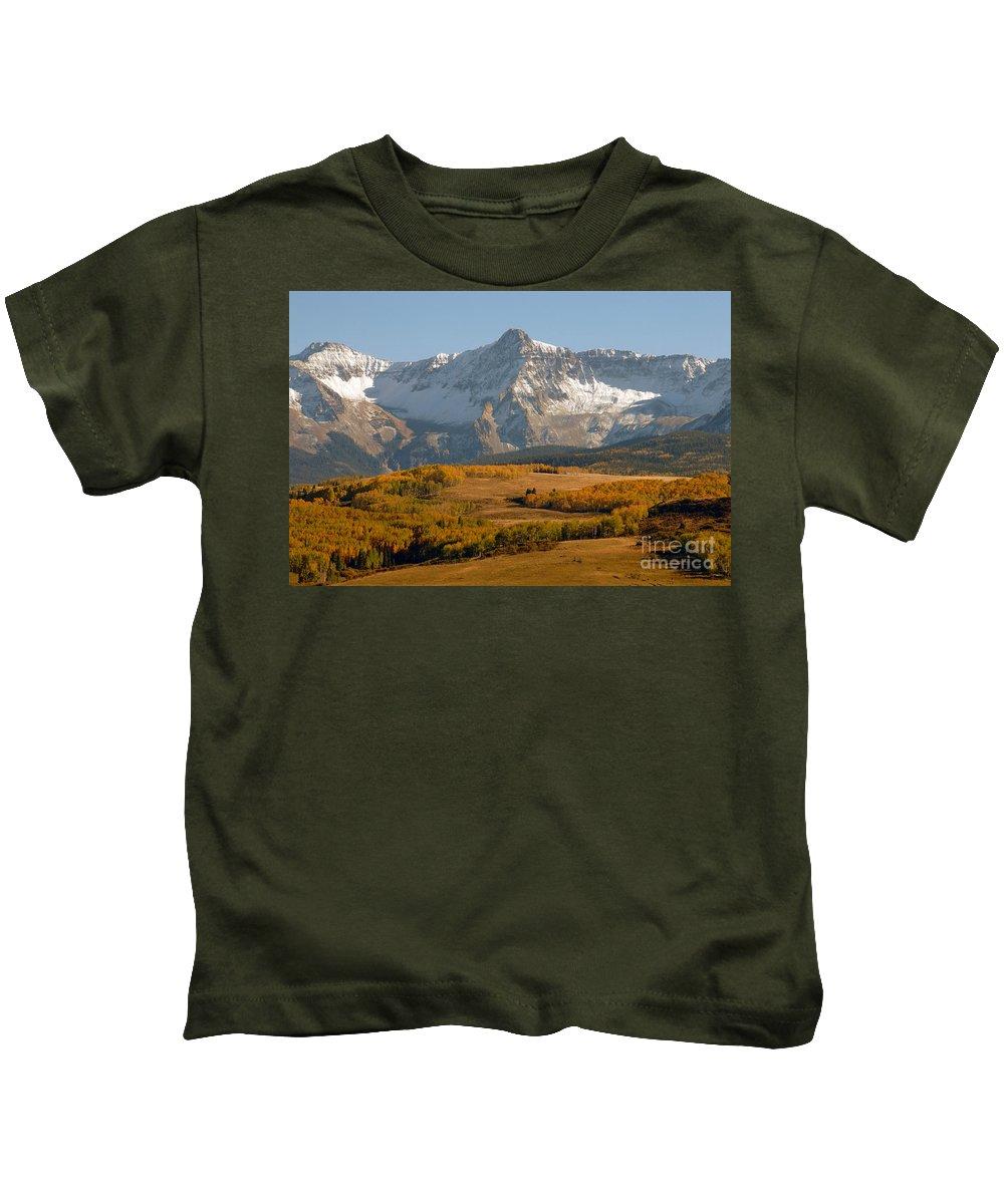 Mount Sneffels Kids T-Shirt featuring the photograph Mount Sneffels by David Lee Thompson