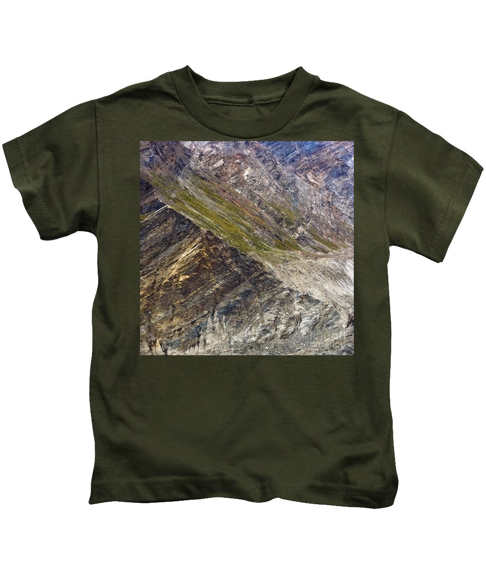 Mountain Kids T-Shirt featuring the photograph Mountain Abstract 1 by Hitendra SINKAR