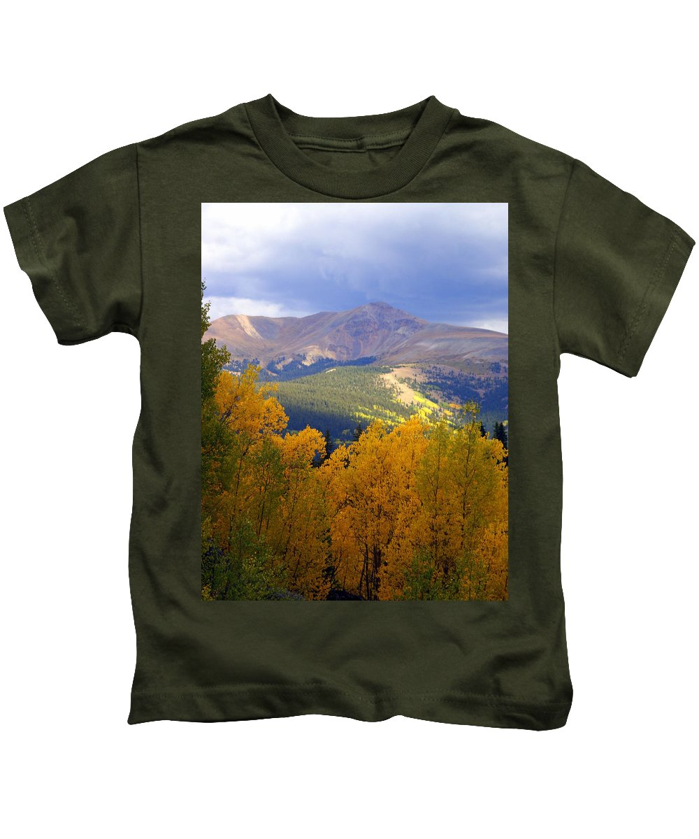 Colorado Kids T-Shirt featuring the photograph Mountain Fall by Marty Koch