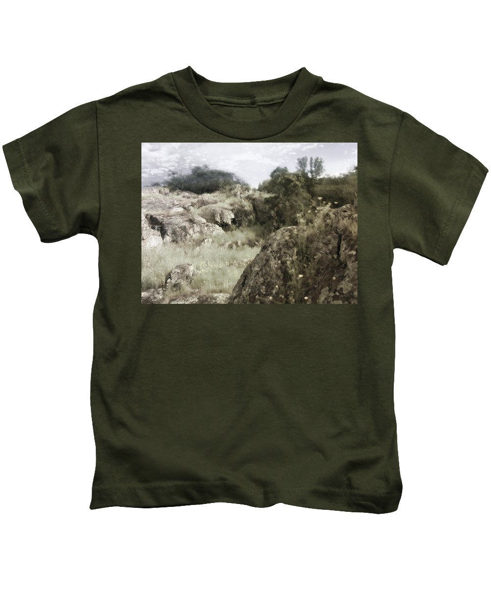 Landscape Kids T-Shirt featuring the photograph Mountain Lion Country by Karen W Meyer