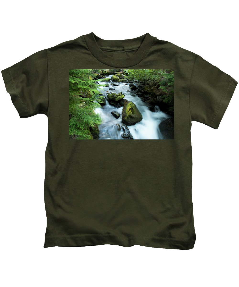 River Kids T-Shirt featuring the photograph Mountain River by Christopher Swafford