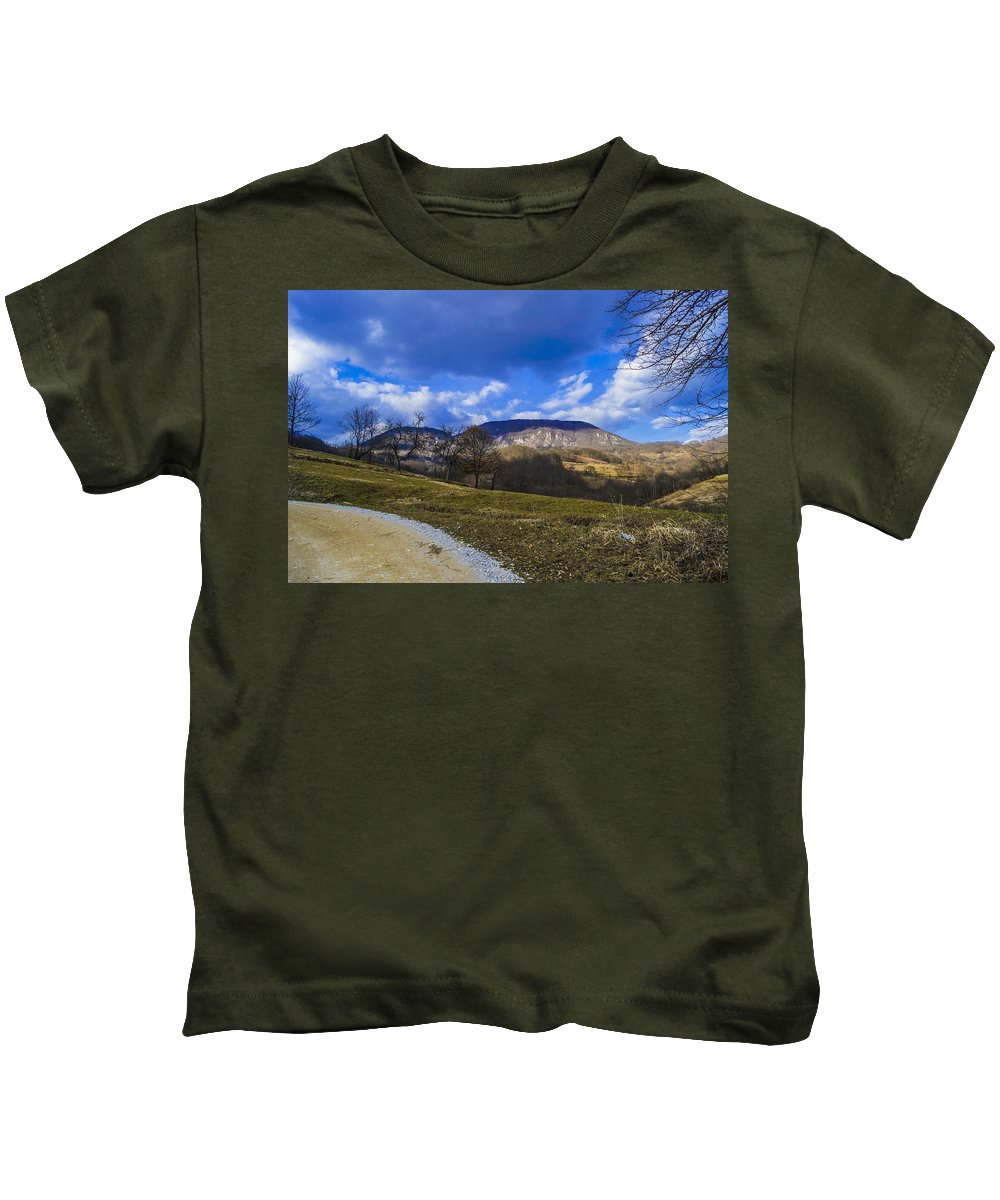 Landscape Kids T-Shirt featuring the photograph Mountain Udrc by Jasmin Hrnjic