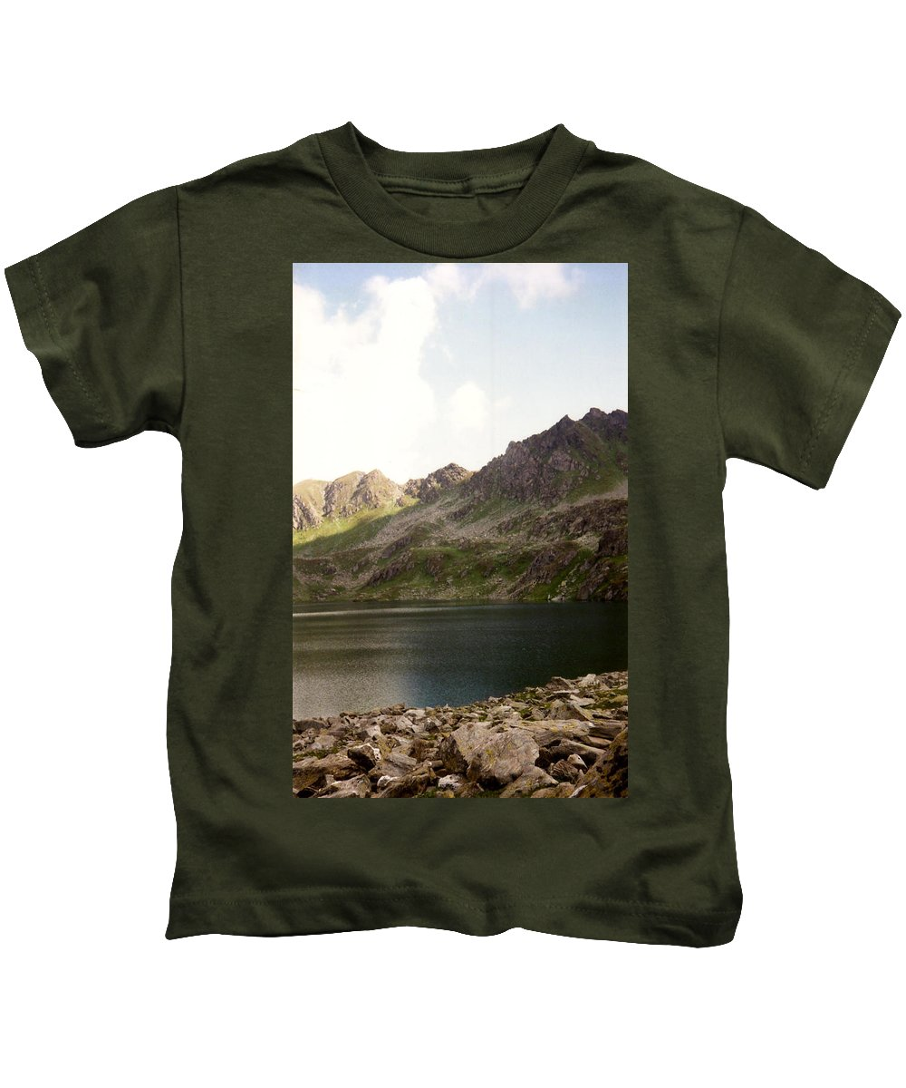 Mountain Scene Kids T-Shirt featuring the photograph Mountains by Catt Kyriacou