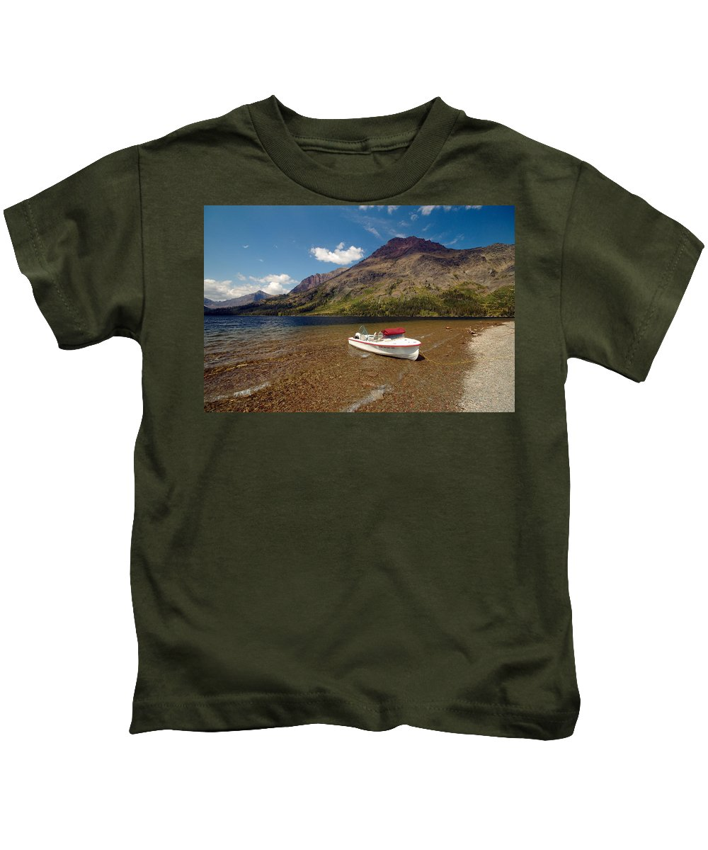 Moutains Kids T-Shirt featuring the photograph Moutain Lake by Sebastian Musial