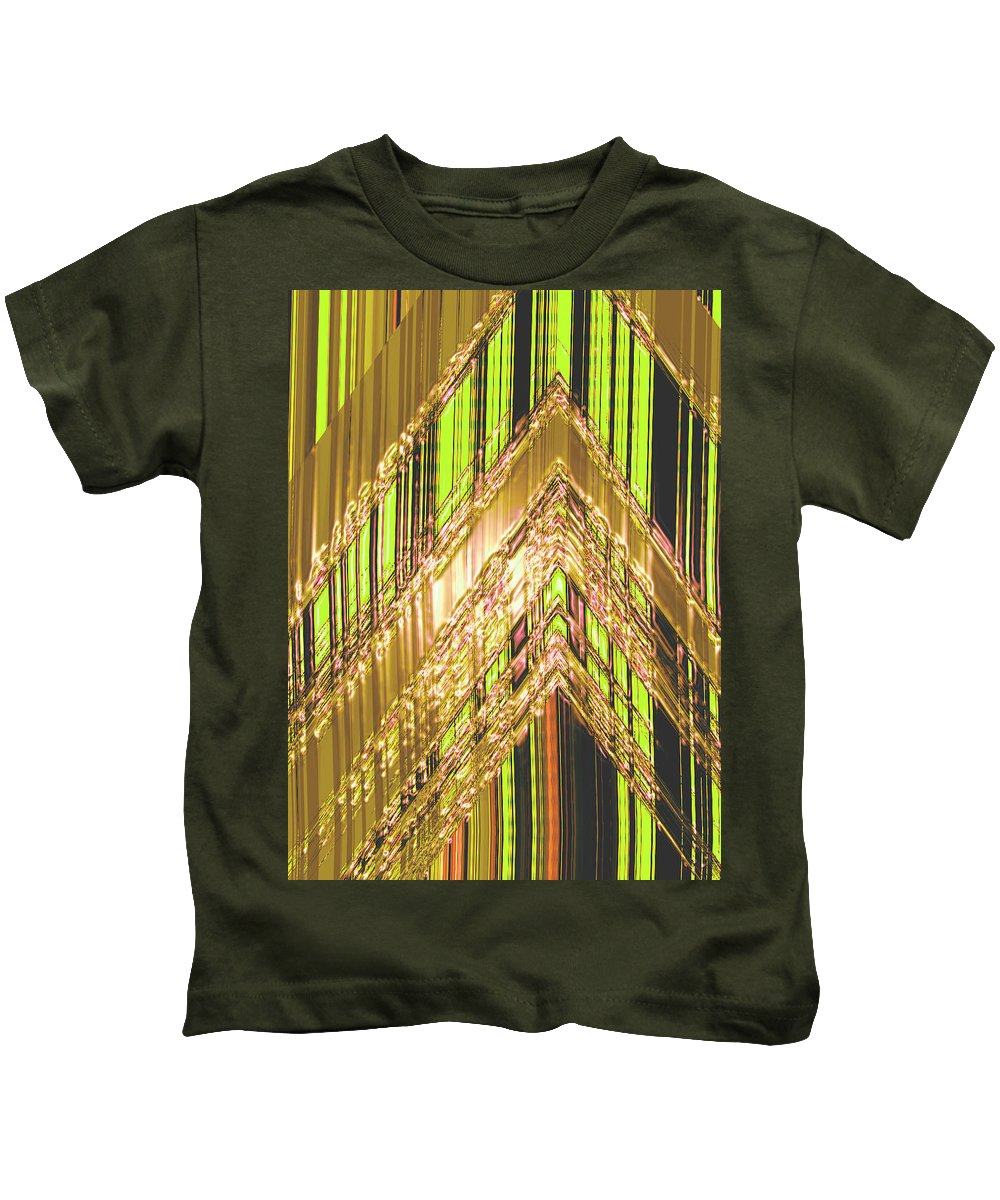 Moveonart! Digital Gallery Kids T-Shirt featuring the digital art Moveonart Amplify Your Creativity Three by Jacob Kanduch