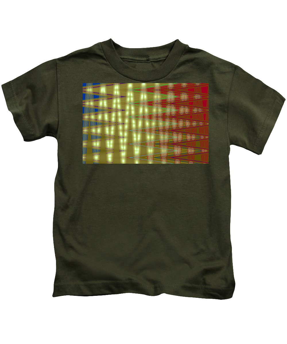 Moveonart! Digital Gallery Kids T-Shirt featuring the digital art Moveonart Amplify Your Creativity Two by Jacob Kanduch