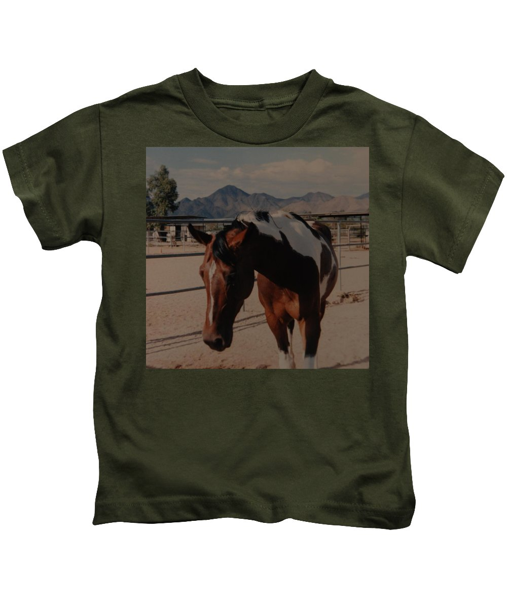 Horse Kids T-Shirt featuring the photograph Mr Ed by Rob Hans