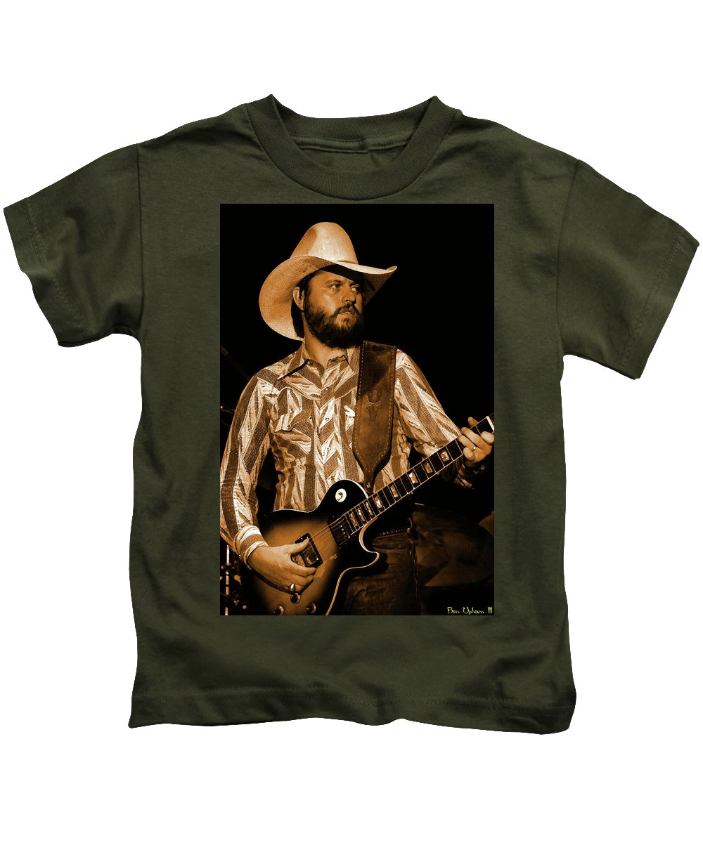 Southern Rock Kids T-Shirt featuring the photograph Mtb77#67 Enhanced In Amber by Ben Upham