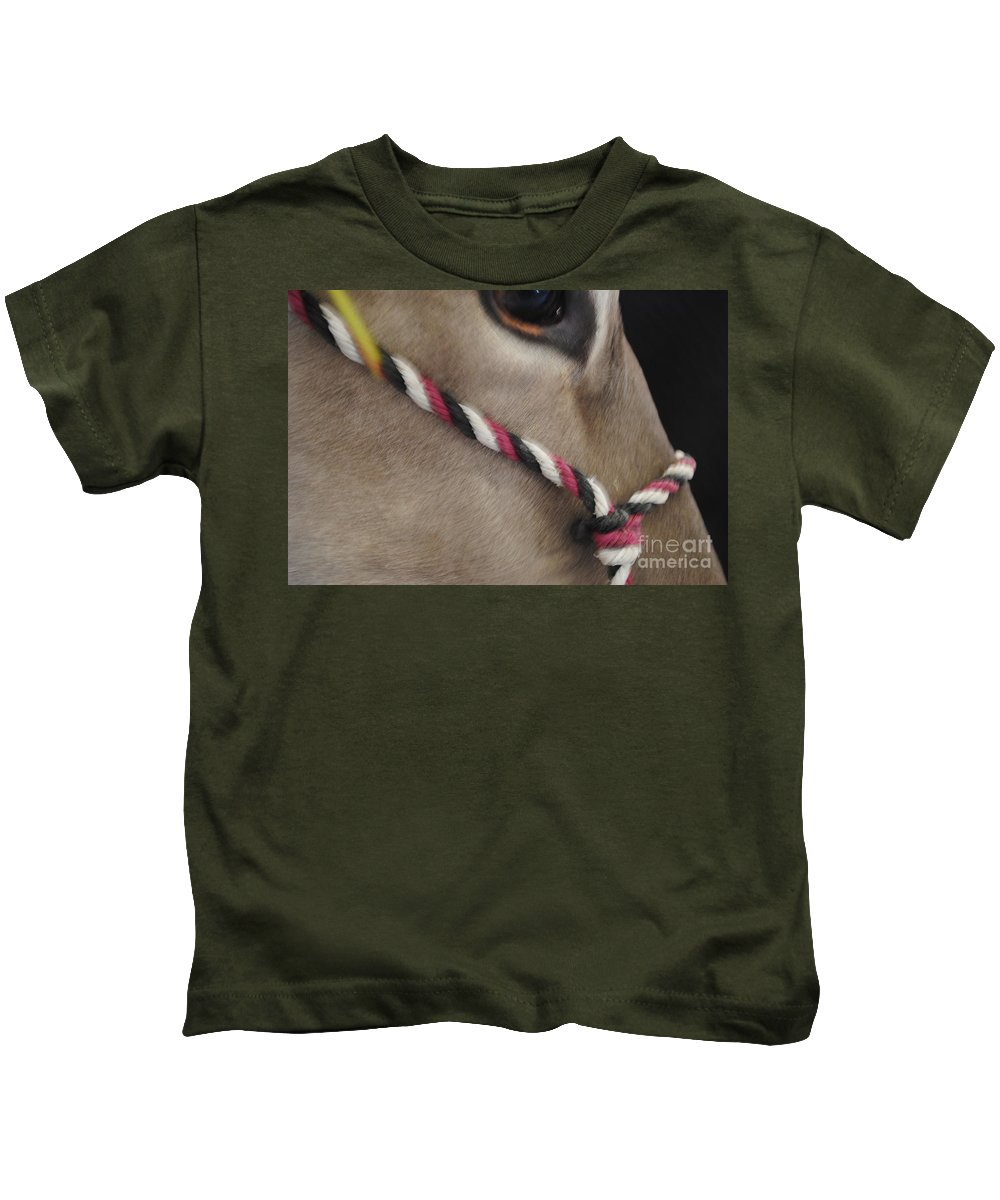 Mule Kids T-Shirt featuring the photograph Mule Eye by Jost Houk