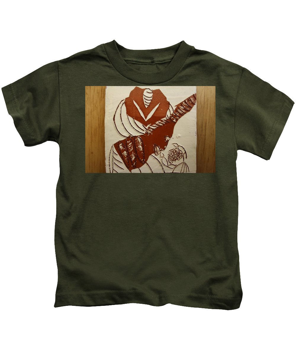 Jesus Kids T-Shirt featuring the ceramic art Mums Gal - Tile by Gloria Ssali