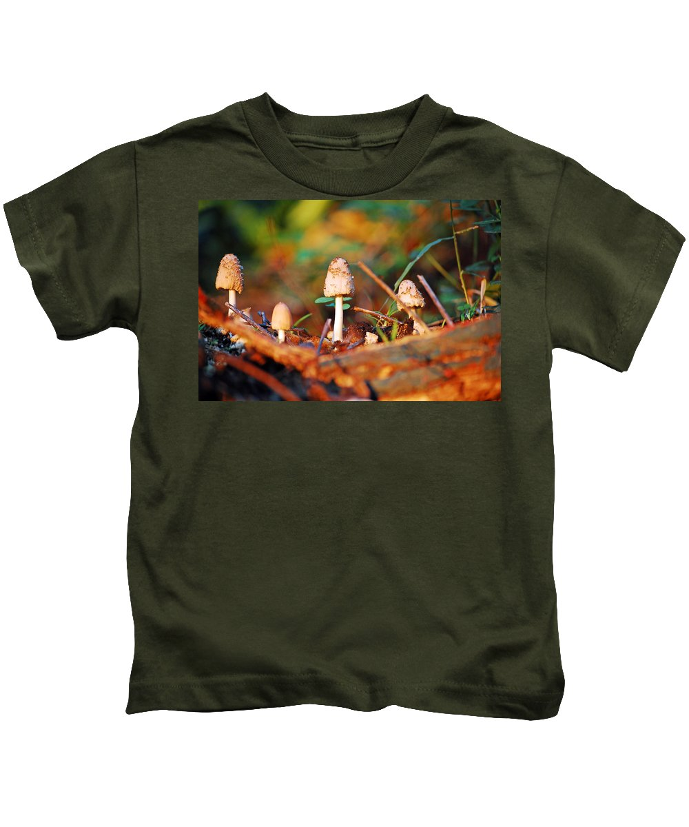 Mushrooms Kids T-Shirt featuring the photograph Mushrooms by Robert Meanor