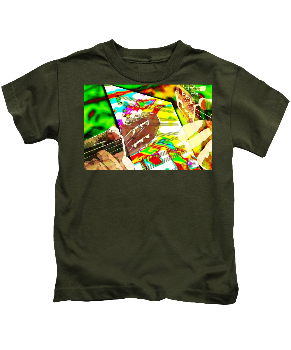 Guitar Kids T-Shirt featuring the digital art Music Creation by Phill Petrovic