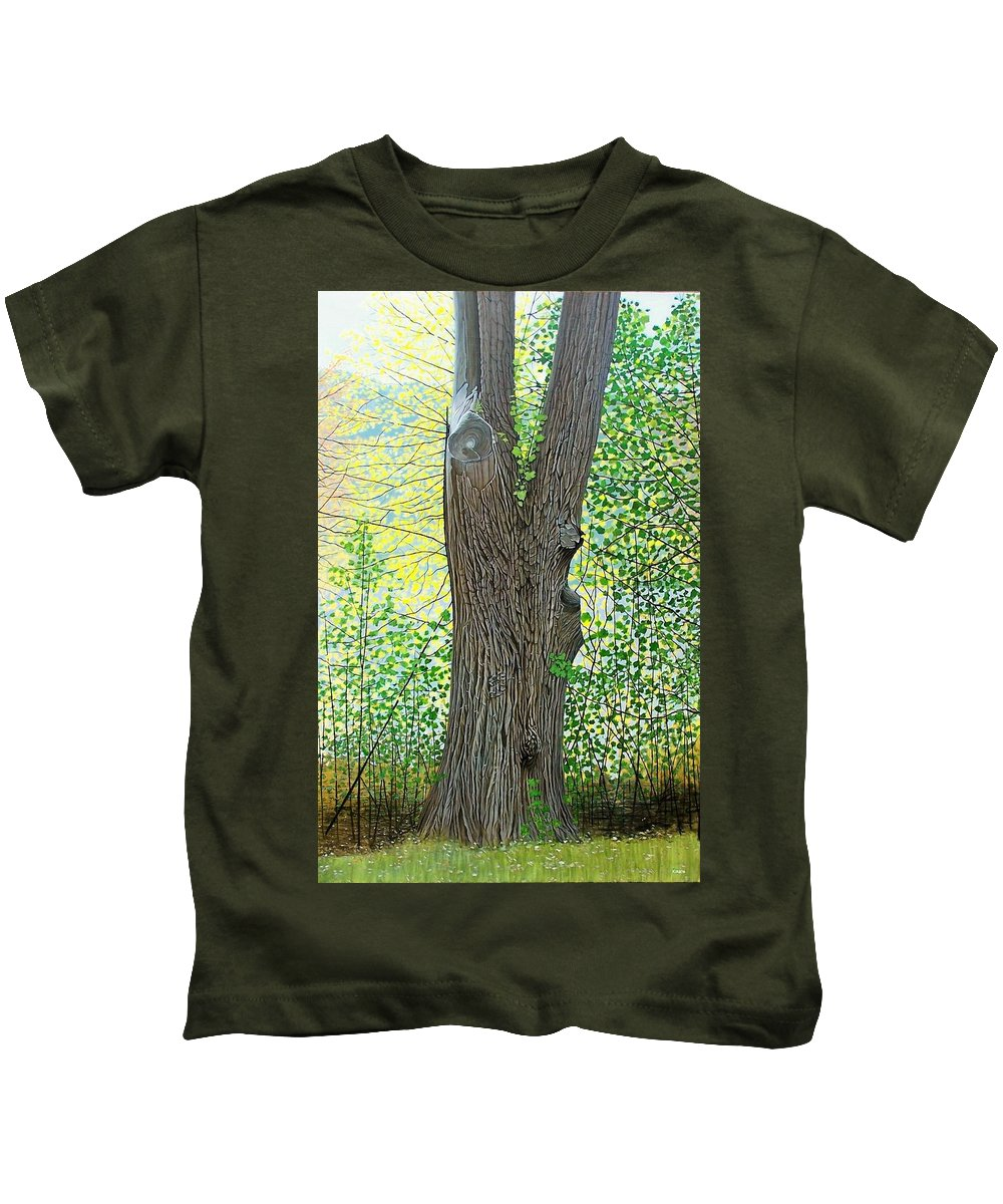 Landscape Kids T-Shirt featuring the painting Muskoka Maple by Kenneth M Kirsch