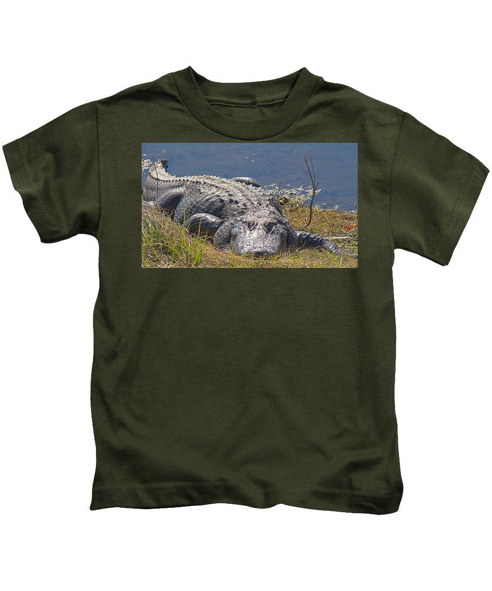 Wildlife Kids T-Shirt featuring the photograph My Buddy by Kenneth Albin