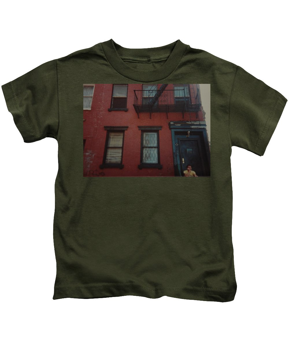 Lower East Side Kids T-Shirt featuring the photograph My Pops First Home In The United States by Rob Hans