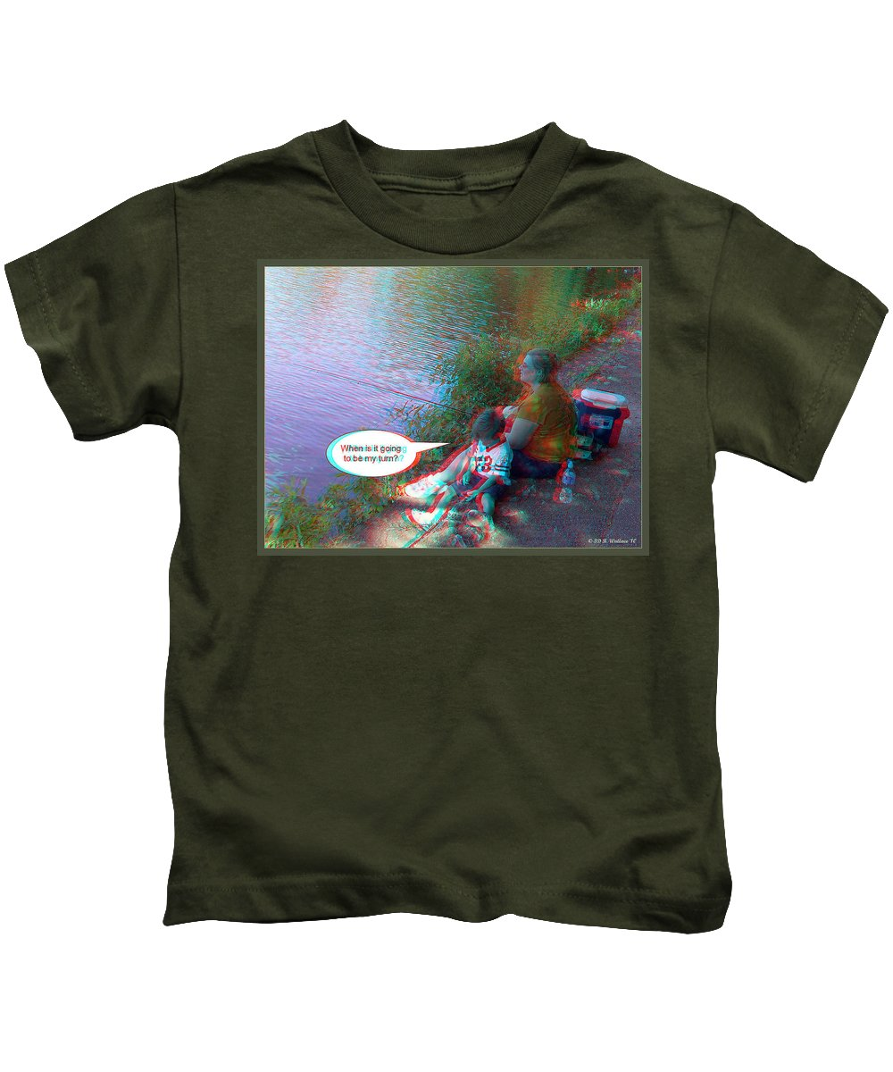 3d Kids T-Shirt featuring the photograph My Turn by Brian Wallace