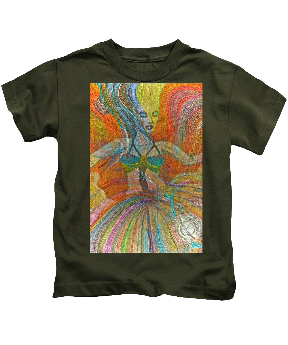 Dance Kids T-Shirt featuring the painting Mysterious Dancer by Gwyn Newcombe