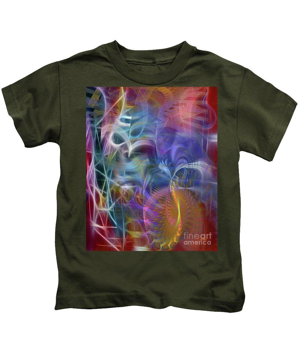 Affordable Art Kids T-Shirt featuring the digital art Mystery Of Light by John Beck