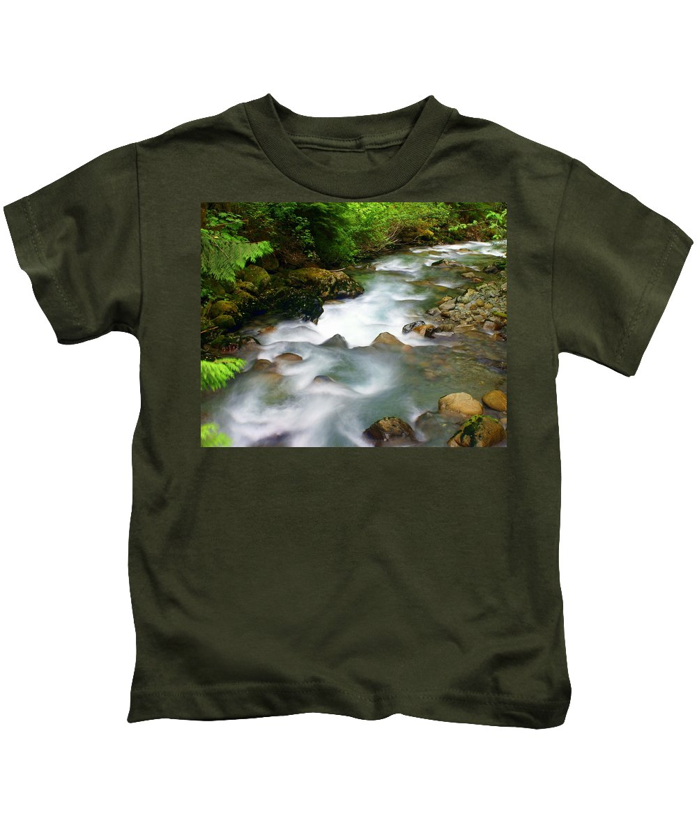 Creek Kids T-Shirt featuring the photograph Mystic Creek by Marty Koch