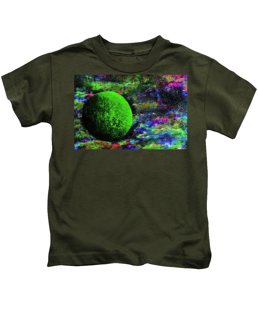 Acrylic Kids T-Shirt featuring the painting Namek by Kyle Hale