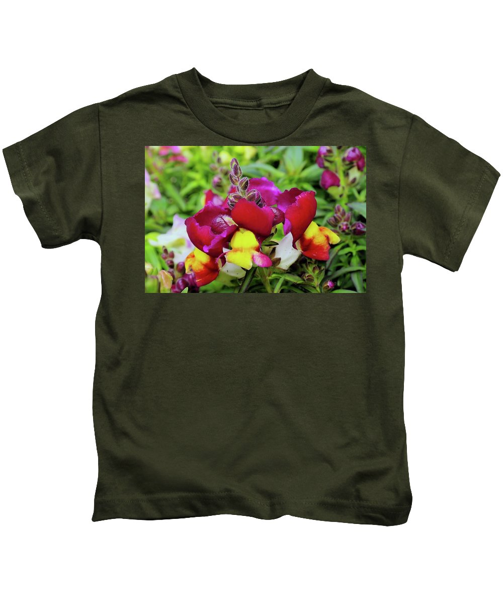 Floral Kids T-Shirt featuring the photograph Nascent Blossoms by Jeff Swan