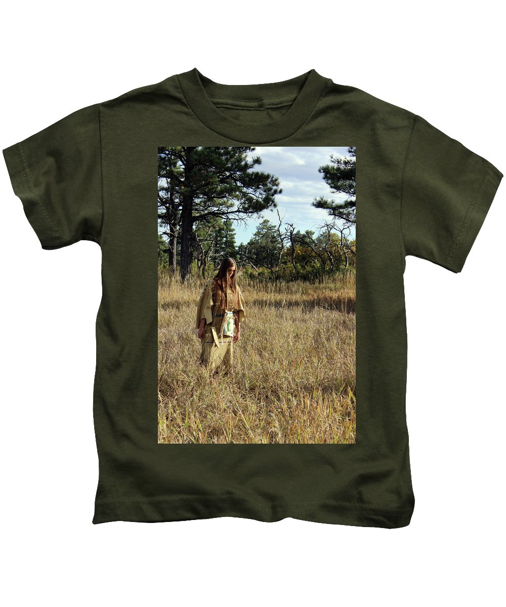 Native American Kids T-Shirt featuring the photograph Native Maiden by Samantha Burrow