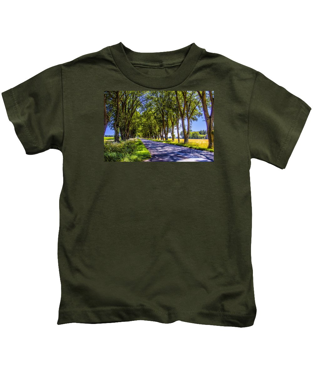Trees Kids T-Shirt featuring the photograph Natural Tunnel by Roberta Bragan