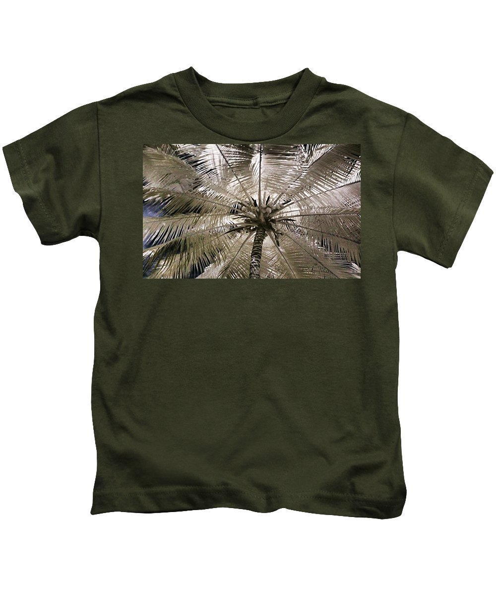 Palm Kids T-Shirt featuring the photograph Natural Umbrella by Galeria Trompiz
