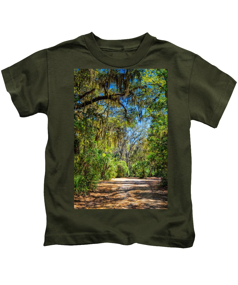 Landscape Kids T-Shirt featuring the photograph Nature Drive by John M Bailey