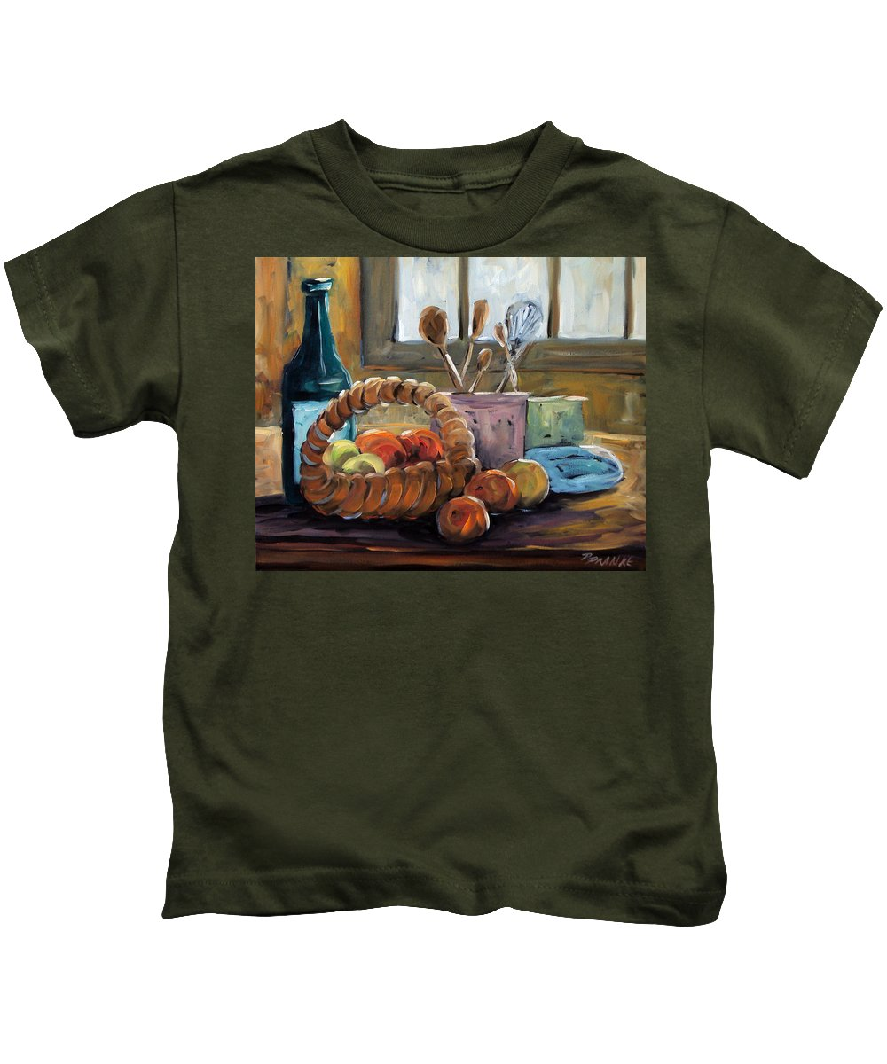 Art Kids T-Shirt featuring the painting Nature Morte by Richard T Pranke