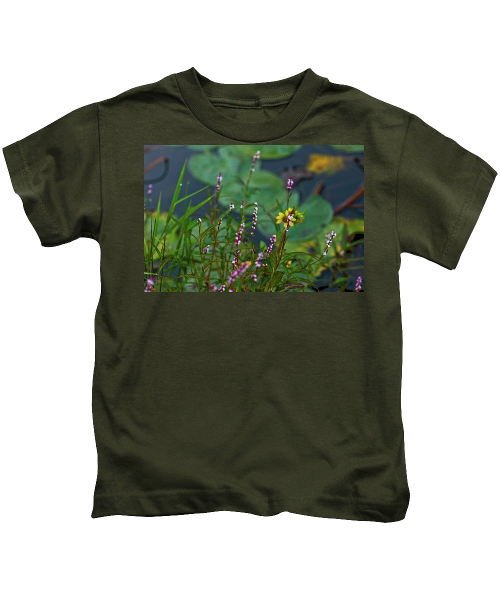 lilly Pads Kids T-Shirt featuring the photograph Nature Water Garden by Paul Mangold