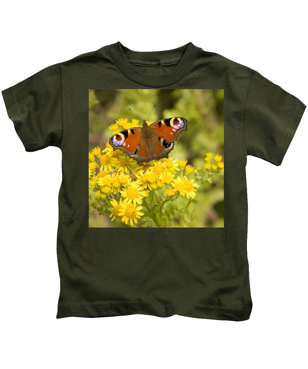 Butterfly Kids T-Shirt featuring the photograph Nature's Beauty by Ian Middleton