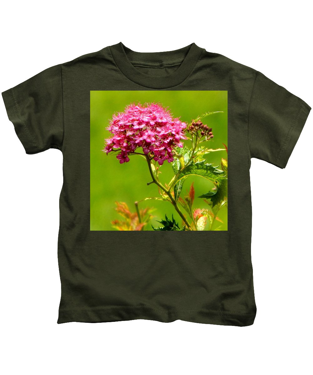 Pink Kids T-Shirt featuring the photograph Nature's Bouquet by JoAnne Burgess