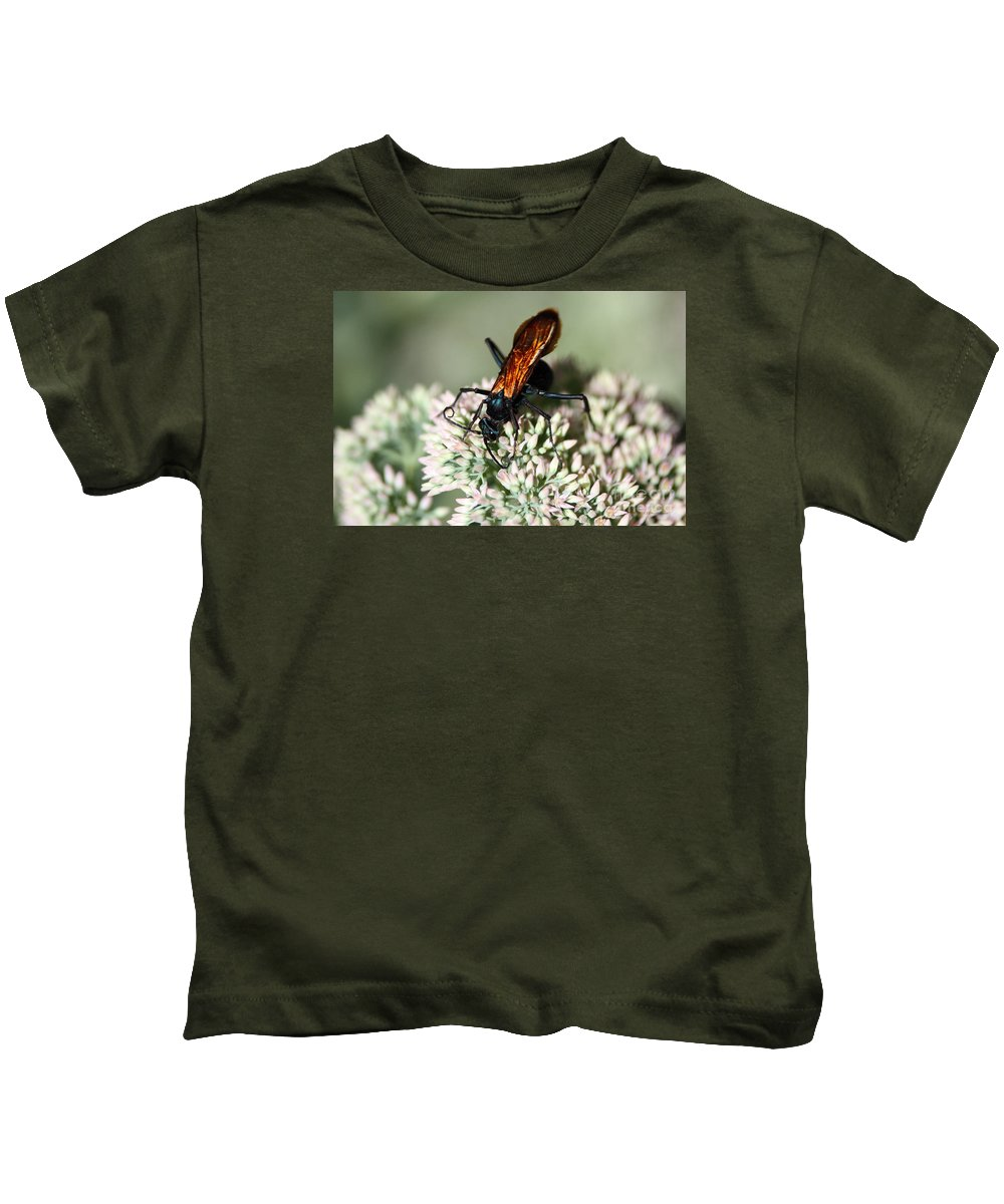 Insect Kids T-Shirt featuring the photograph Nectar Lover by Robert Smitherman