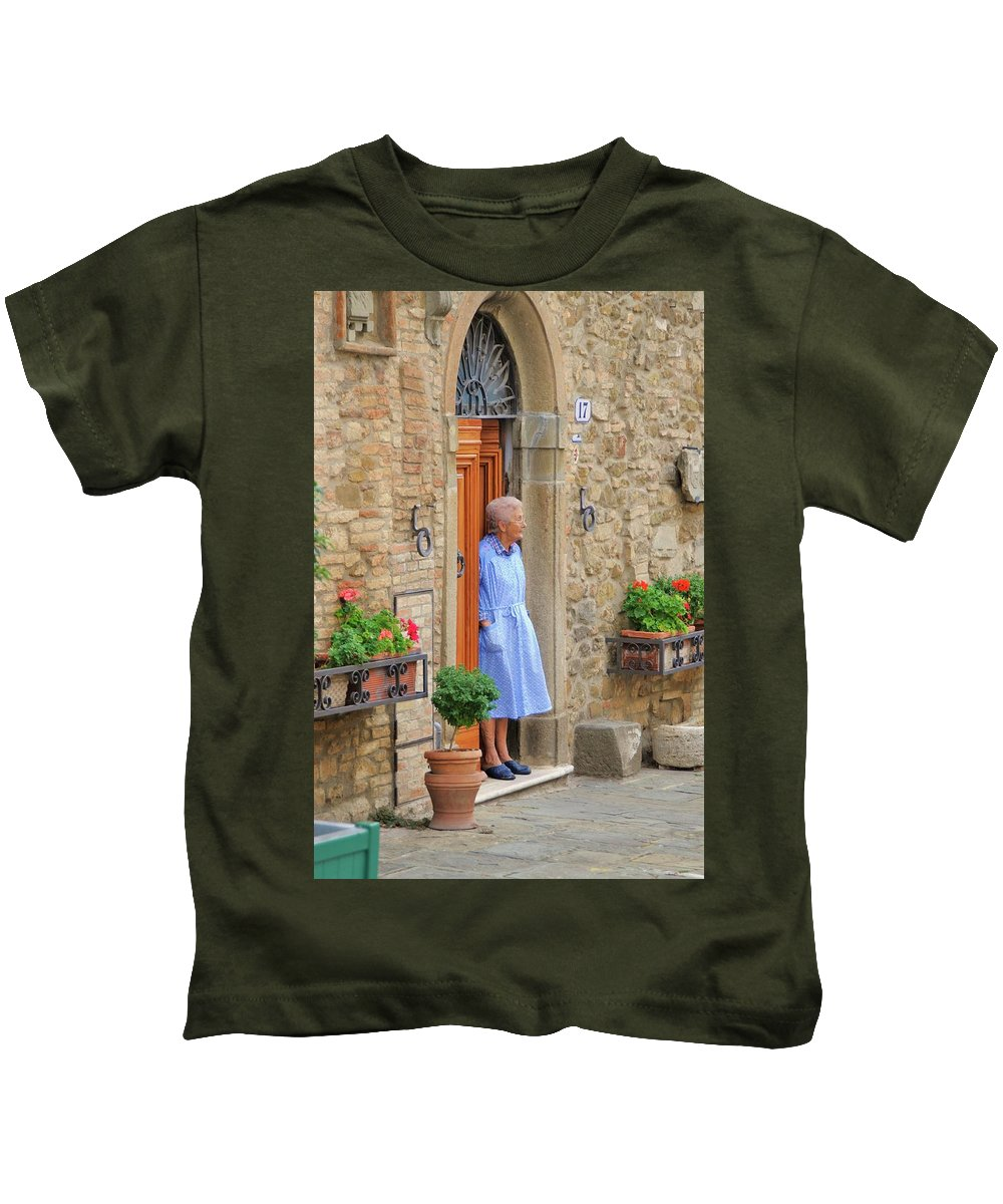 Italy Kids T-Shirt featuring the photograph Neighborhood Watch by Jim Benest