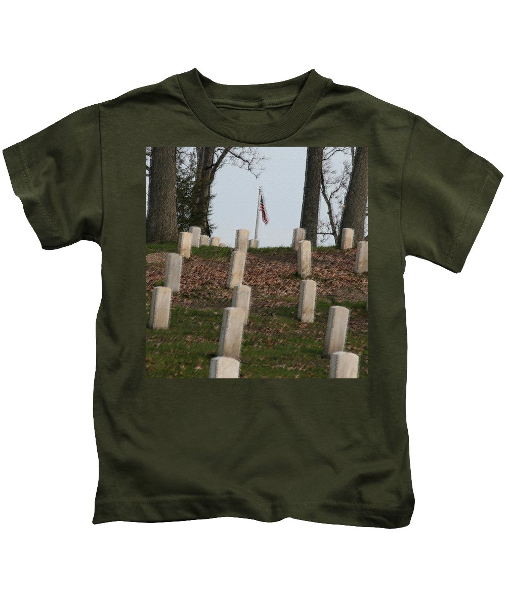 America Kids T-Shirt featuring the photograph Never Forget The Cost by Robert Pearson