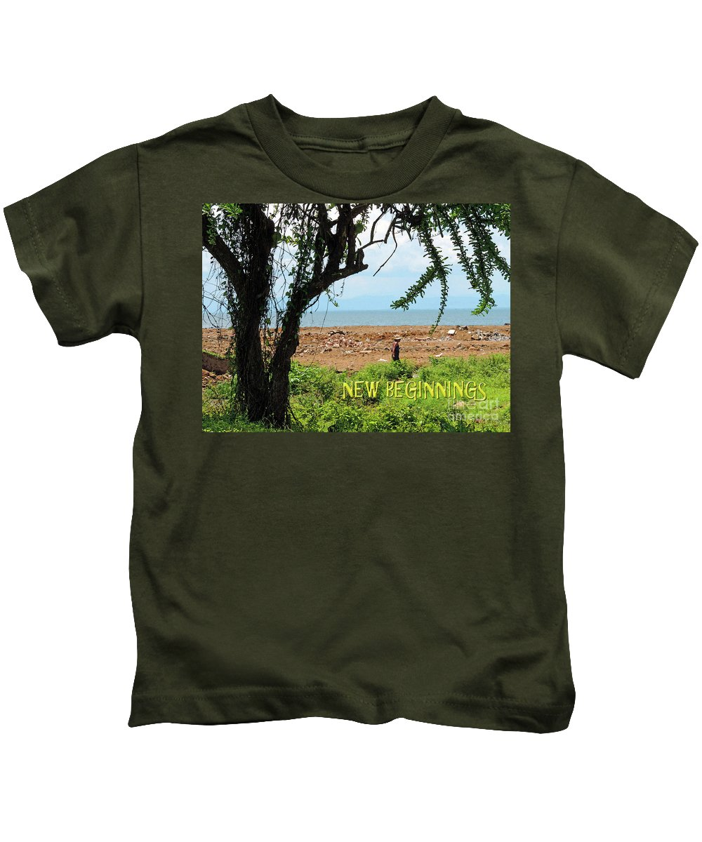 Encouragement Kids T-Shirt featuring the photograph New Beginnings by Lydia Holly
