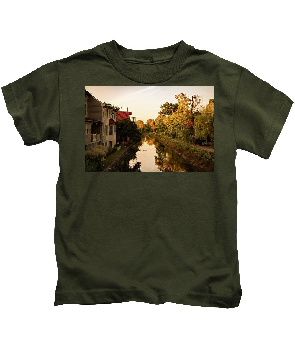 New Hope Kids T-Shirt featuring the photograph New Hope, Pa by Hunter Kressler