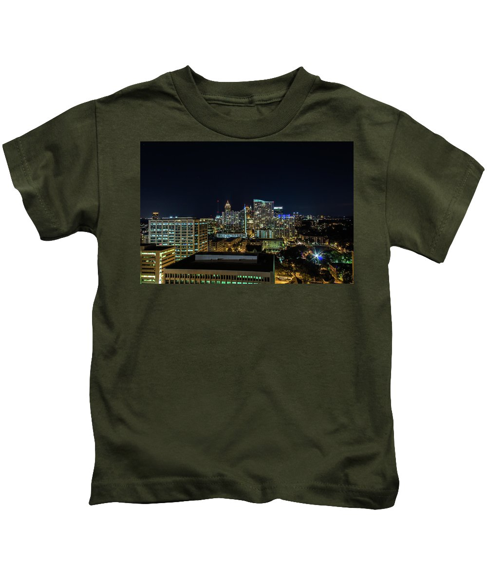 Atlanta Kids T-Shirt featuring the photograph Night View by Kenny Thomas