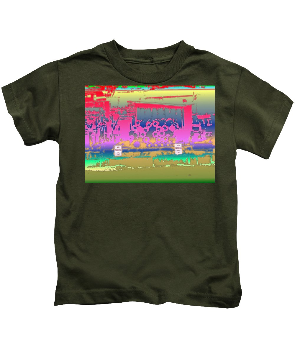 Seattle Kids T-Shirt featuring the photograph No Parking Anytime by Tim Allen