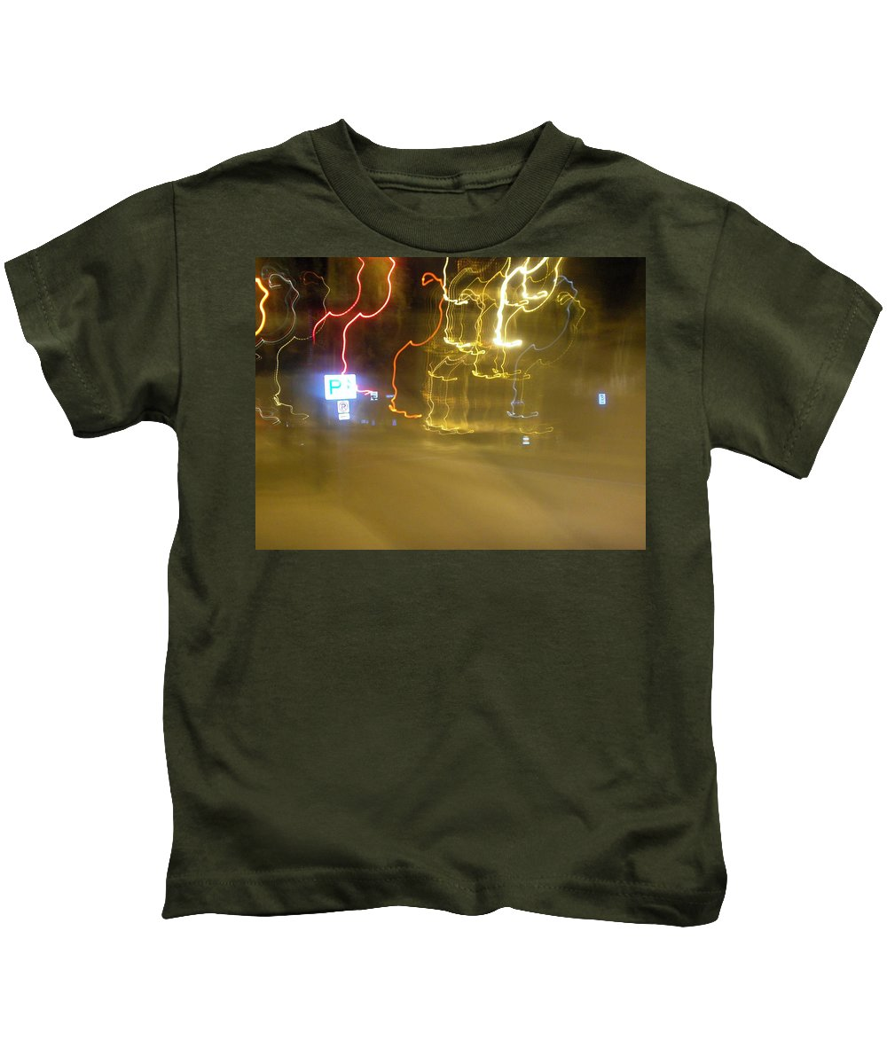 Photograph Kids T-Shirt featuring the photograph No Parking by Thomas Valentine