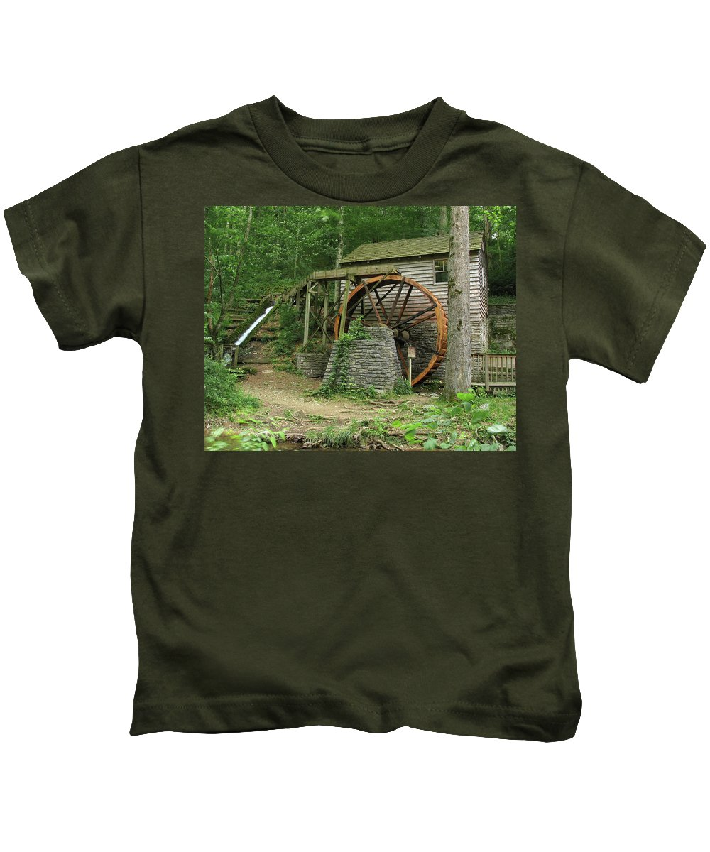 Grist Mill Kids T-Shirt featuring the photograph Rice Grist Mill II by Douglas Stucky