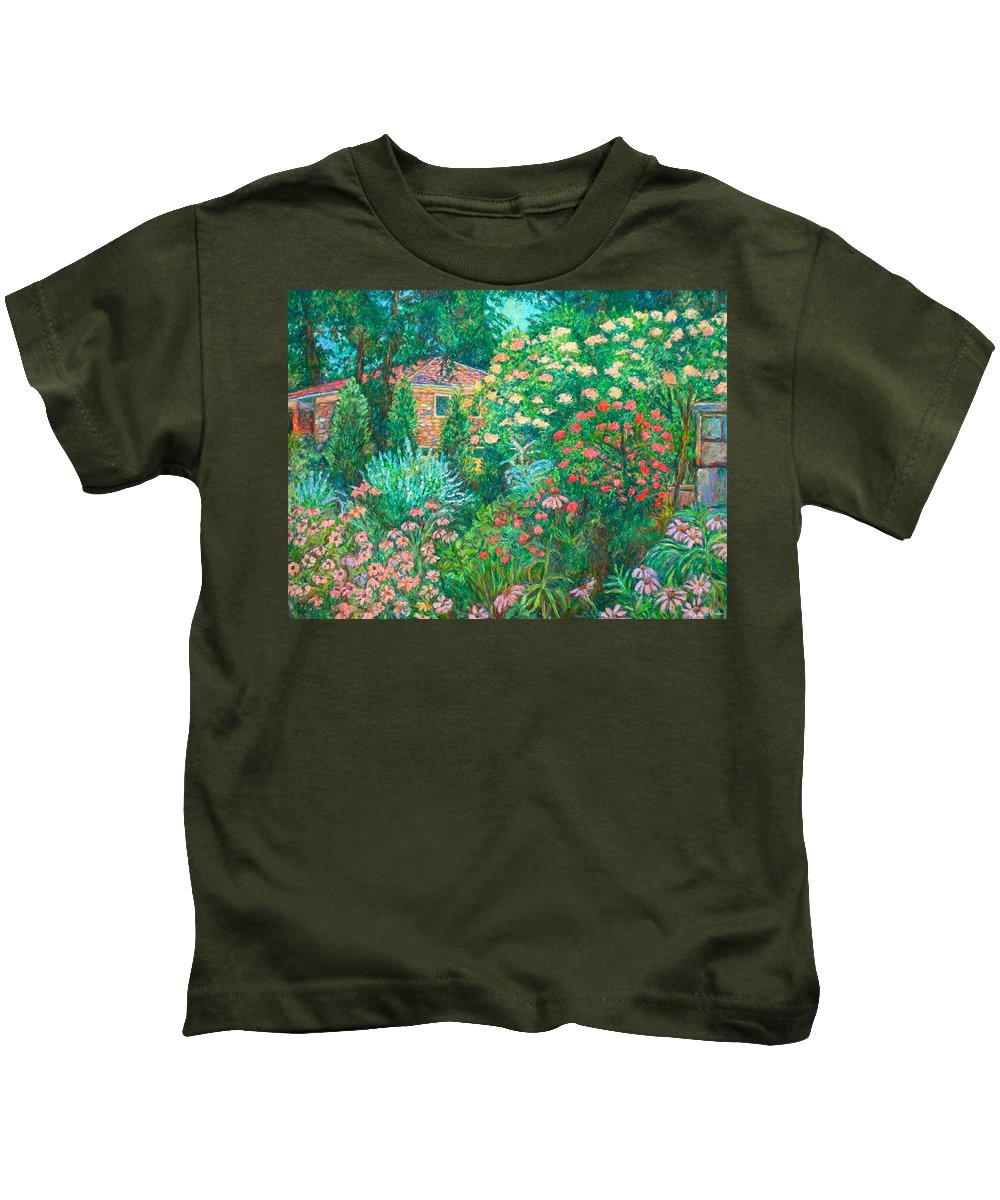 Garden Kids T-Shirt featuring the painting North Albemarle In Mclean Va by Kendall Kessler